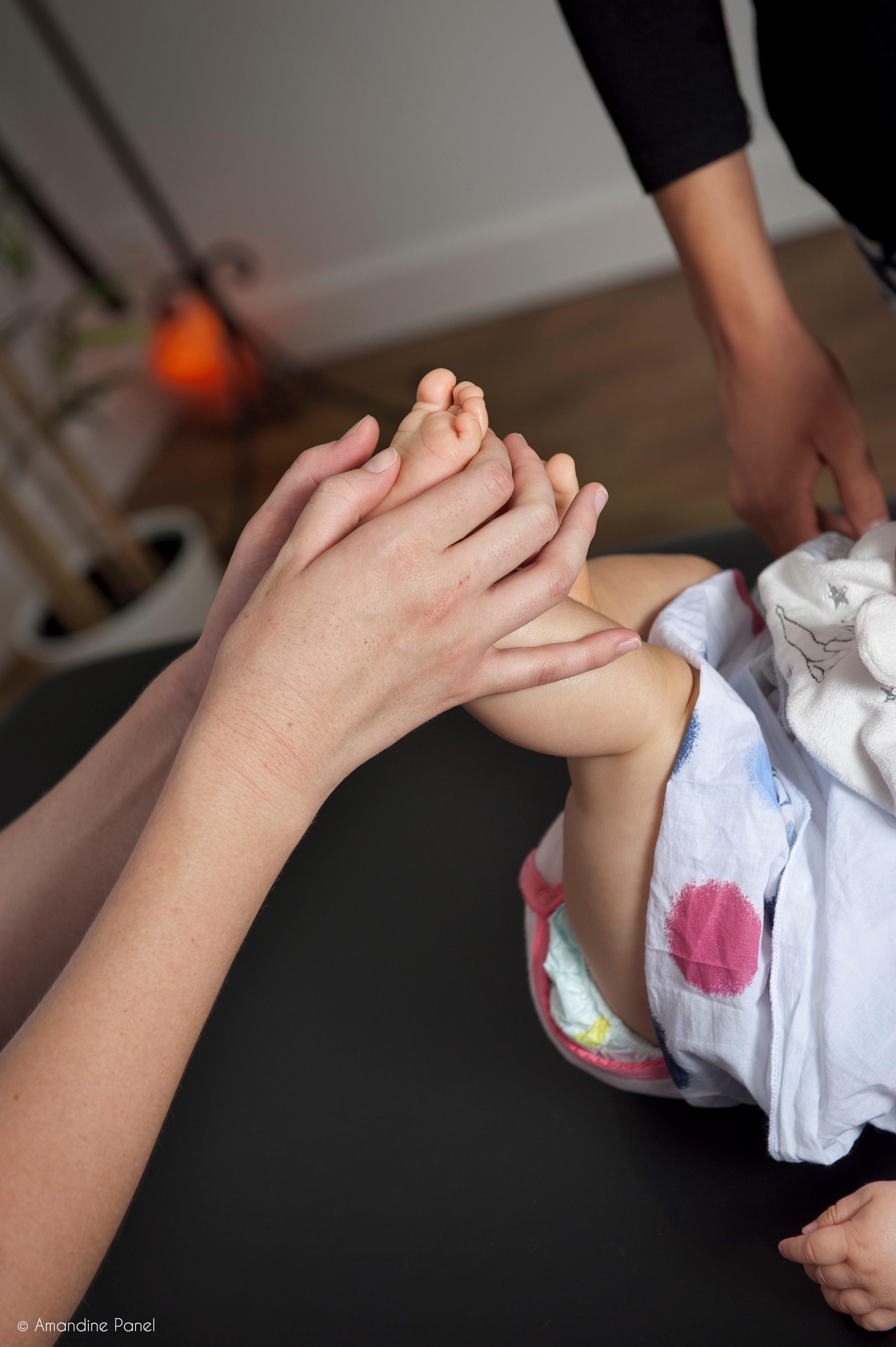 réflexologie avec un bébé